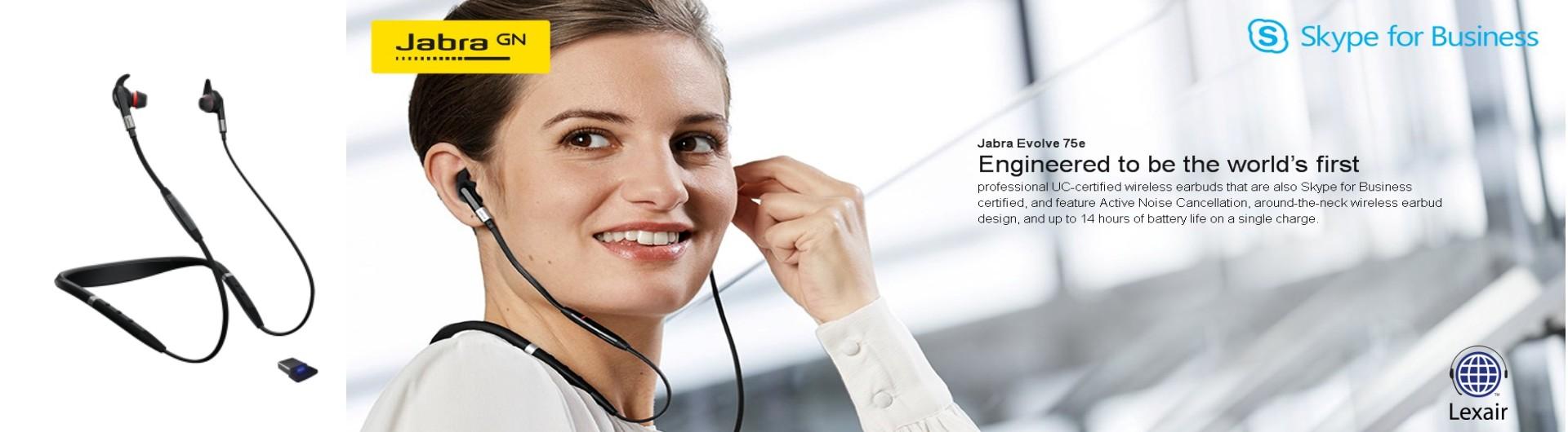 Jabra Evolve 75e World S First Professional Uc Certified Wireless Earbuds Lexair