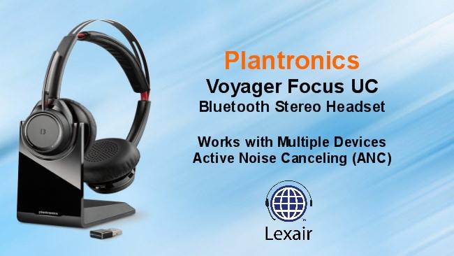 Focus Voyager Focus Uc Bluetooth Stereo Headset Lexair